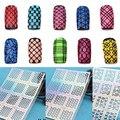 Nueva Nail Art Sticker Plantilla Hollow Guía Tips Manicura Stamping Tool Sello Stencil