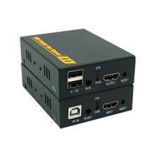 Сети 1080 P HDMI KVM Over IP Extender Высокое качество 120 м USB HDMI ИК KVM Extender над UTP/STP cat5e/6 кабель hdmi 1.3 hdcp 1.2