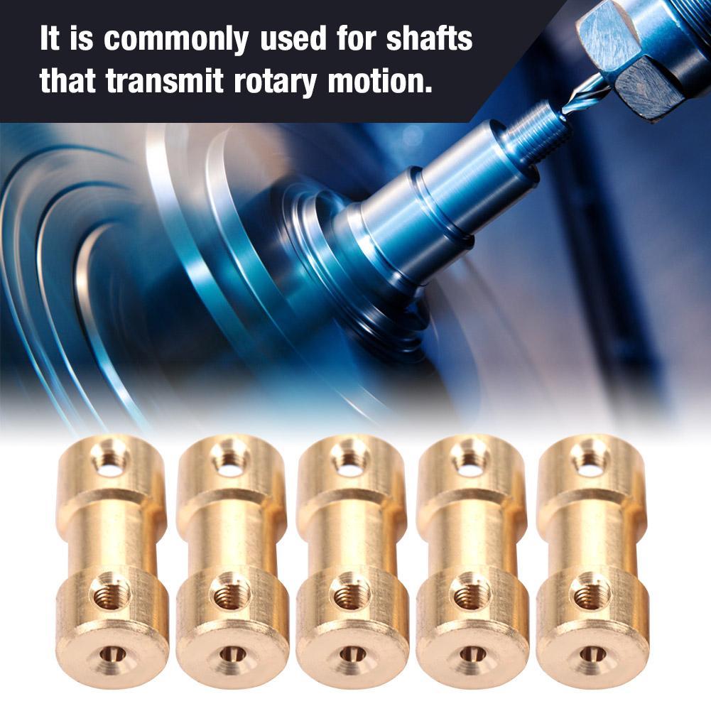 5pcs Motor Copper Shaft Coupling Coupler Connector Sleeve Transfer Joint Adapter Shaft Coupler #3
