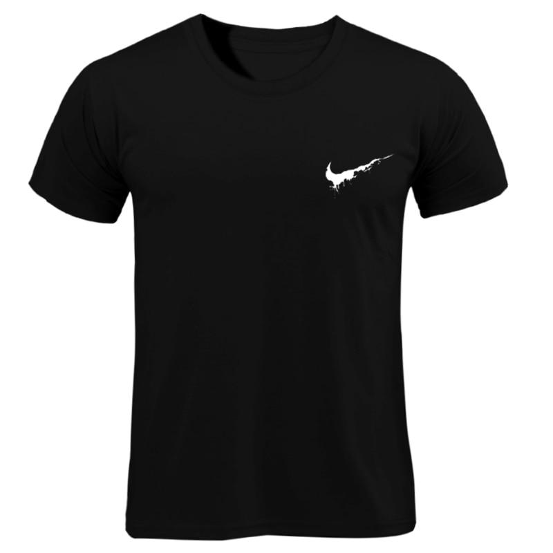 Cotton Casual LOGO Printing Men's T-shirt Top Fashion Short-sleeved JUST BREAK IT Men's Tshirt Shirt 2019 Hanukkah Off White