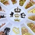 Черная золотая металлическая императорская корона ногтей Фольга наклейки колесо для нарезки дизайн ногтей инструменты для дизайна