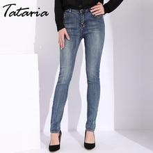 3162258ee1 Tataria Slim Skinny Jeans para mujeres Vintage Estilo negro pantalones  vaqueros Jeans Mujer Denim Pantalones lápiz