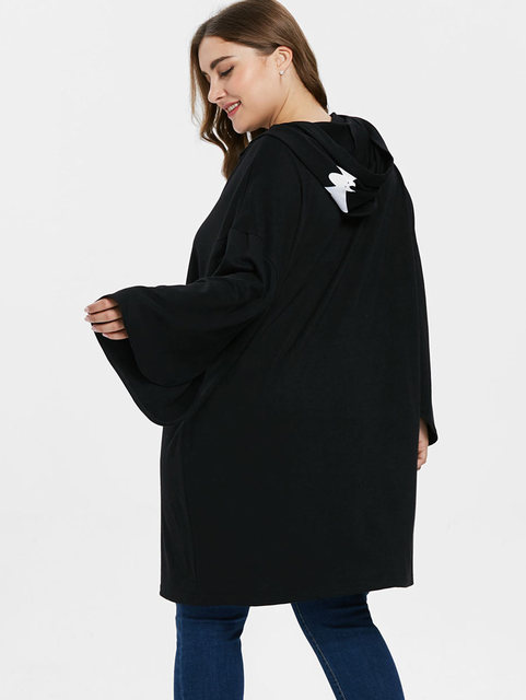 HALLOWEEN SKULL HOODIE DRESS