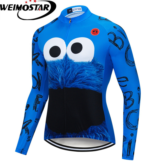 Cheap Weimostar Long Sleeve Cycling Jersey Blue 2019 Team Mens Racing Sport Bicycle  Cycling Clothing Maillot fdbb78b83