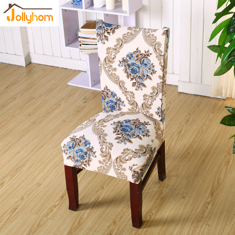 1pc New Printed Design Spandex Stretch Dining Chair Cover Easy Installation  Restaurant Banquet Hotel Anti