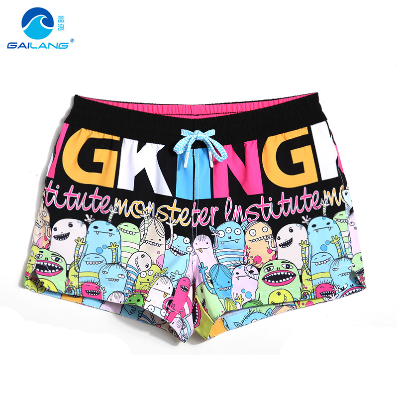 Lady   board     shorts   swimming   short   swimsuits bird cartoon parttern sexy quick dry female running   shorts   joggers boardshorts sweat