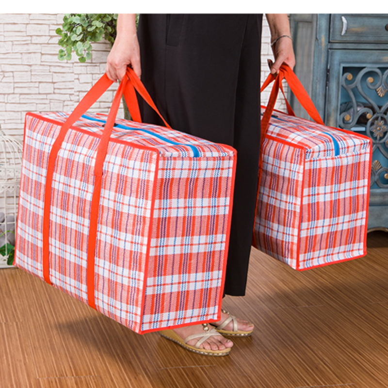 Shop827385 Store 2017 new large woven bag bag pack up and move super thick Oxford cloth waterproof bag luggage wrapped in snakeskin bag