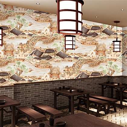 Classic Chinese Style Vintage Cultural Wallpaper Roll Waterproof Vinyl PVC Wall Paper for Hotel Room Hallway Walls Background john mattone cultural transformations