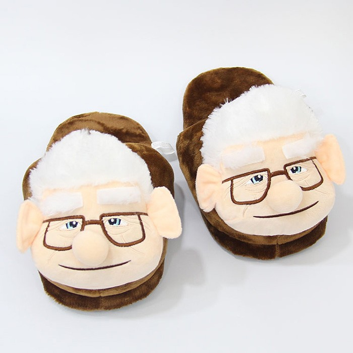 Carl Fredrickson Cute Rick And Morty Women Slippers Stuffed Comfortable Indoor Home Shoes Unisex Slippers