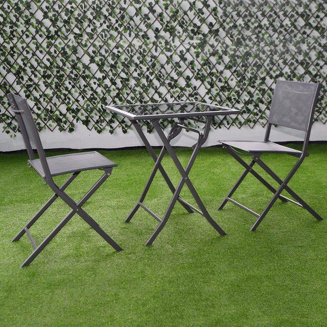 Tienda Online 3 unids conjunto Bistro patio jardín sillas de patio ...