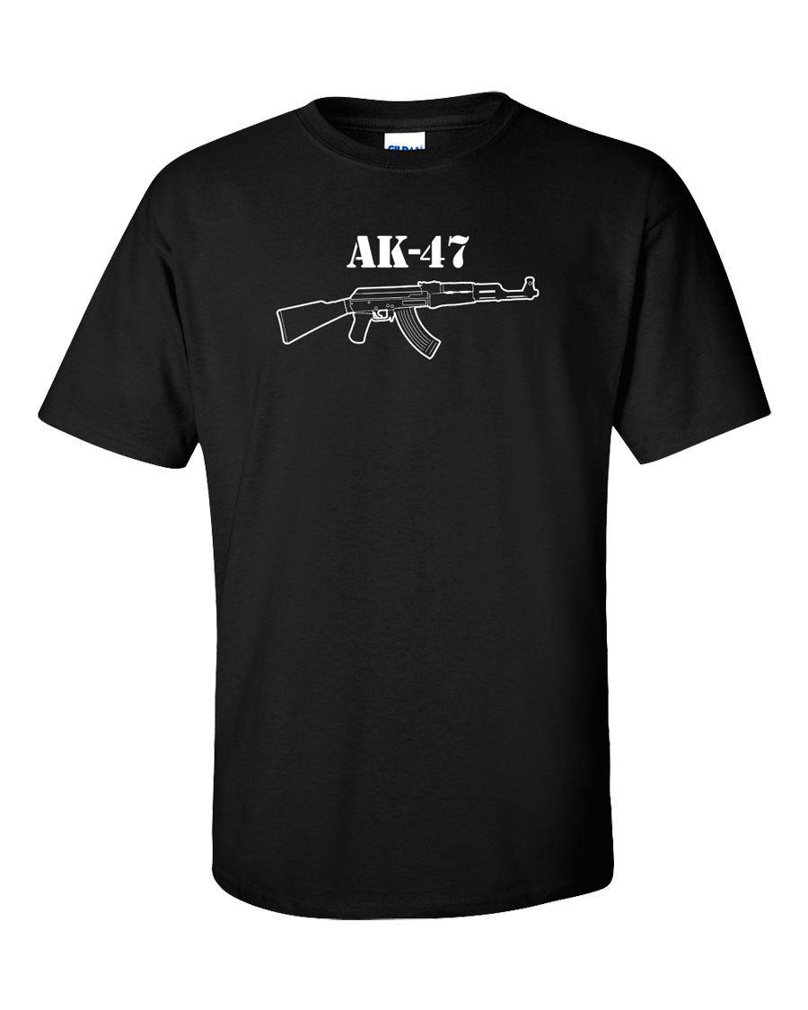 AK-47 T-Shirt Kalashnikov Riffle AK 47 Russian Gun El Chapo Machine Gun 3 Colors ...