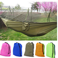 double hammock chair with mosquito nets for garden swing hanging for adults Parachute Cloth outdoor furniture bed size 260x130cm