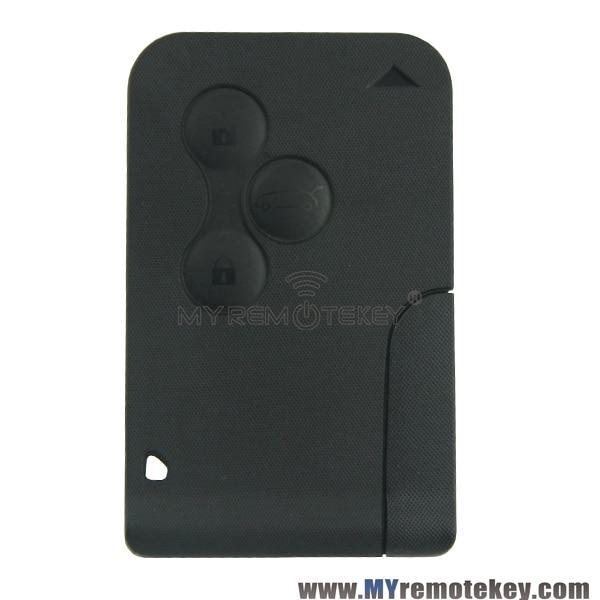 Prix pour Carte à puce de clé 3 boutons 433 mhz PCF7947 avec clé insérer la fiche dans de démarrage de voiture pour Renault Megane carte intelligente remtekey
