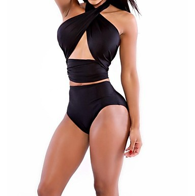 Women's Sexy Backless Bodycon Solid Color Swimwear