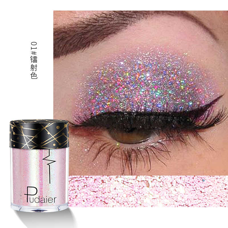 เงา Ray Holographic Glitter Shimmer Pigment Eye Shadow TATTOO Lip เล็บ Body Glitter Festival PARTY แต่งหน้า TSLM1
