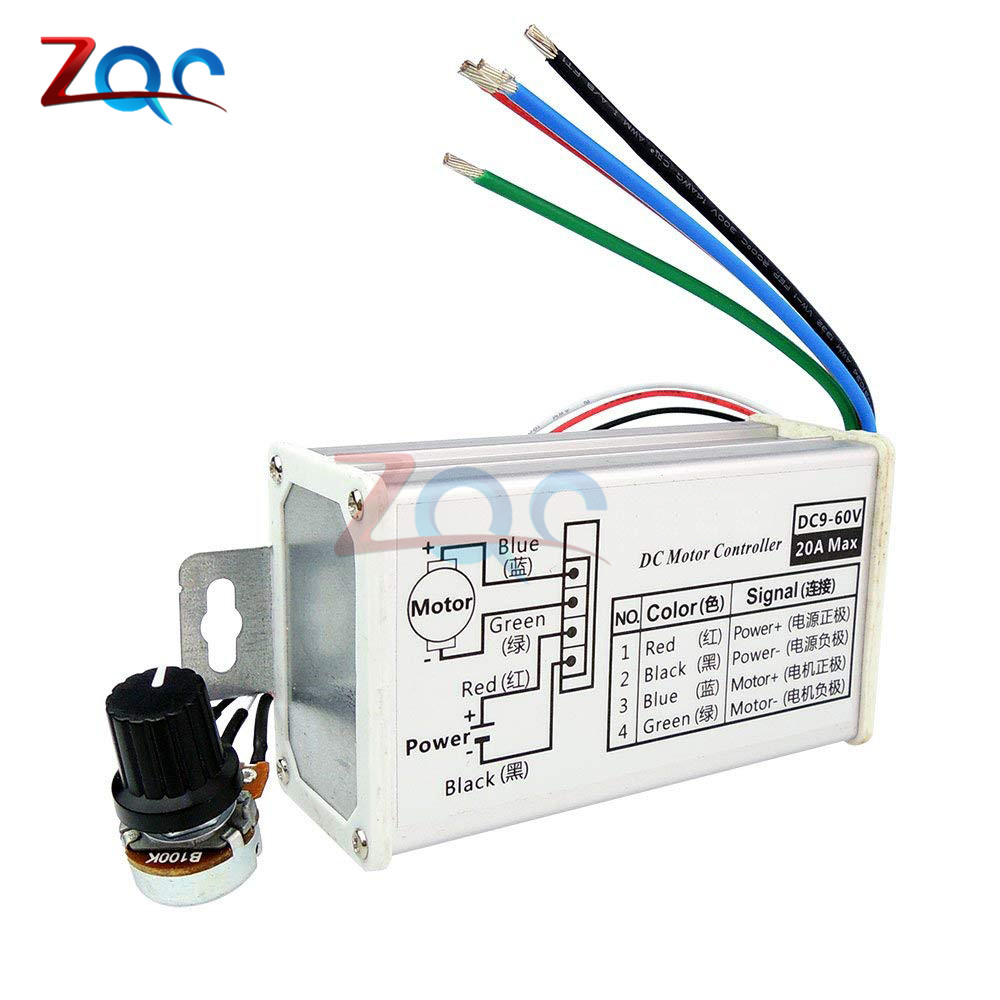 Motors & Parts Motor Controller Pwm Dc Motor Stepless Speed Controller 12v 24v 60v Max 20a Pulse Widthmodulator Motor Speed Regulating Switch