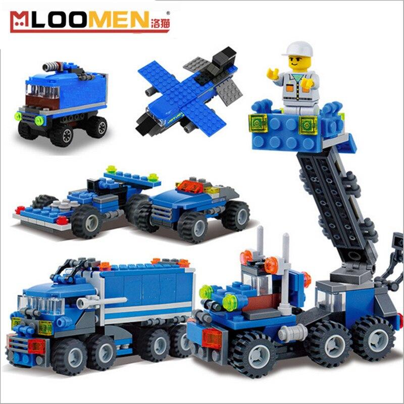 163Pcs lepine Model Block Kits Transport Dumper Truck Building Bricks 8 Shapes DIY Brand Toys for