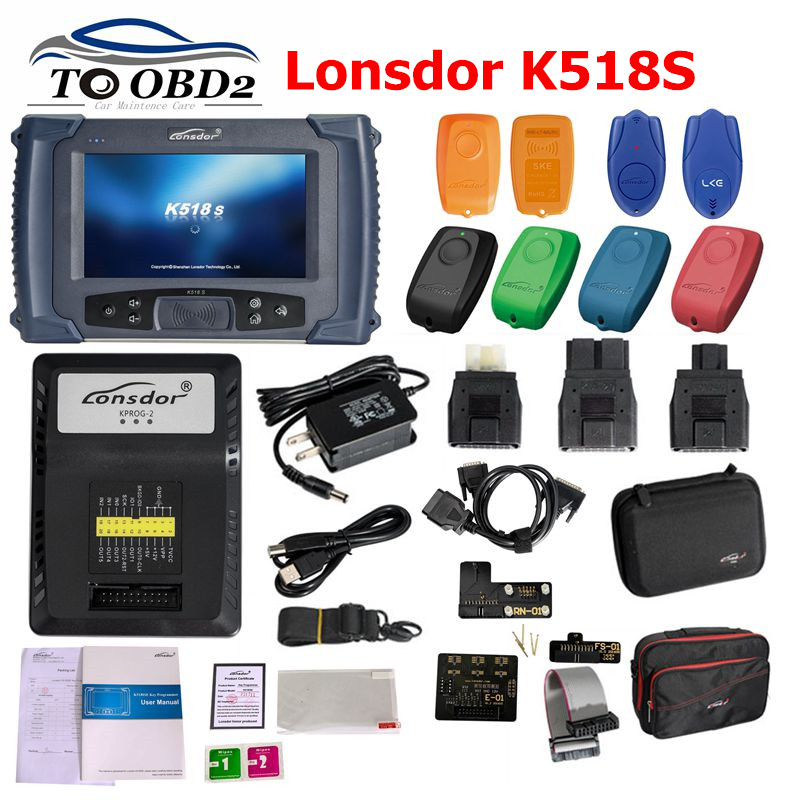 LONSDOR K518S Key Programmer Full Set K518 No Need Tokens Free Opdate Online Odometer Adjustment Cover