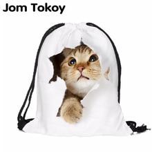Cat escape 3D printing Women Classic forever  brand mochila escolar man Gym bags Travel mochilas backpack drawstring bag