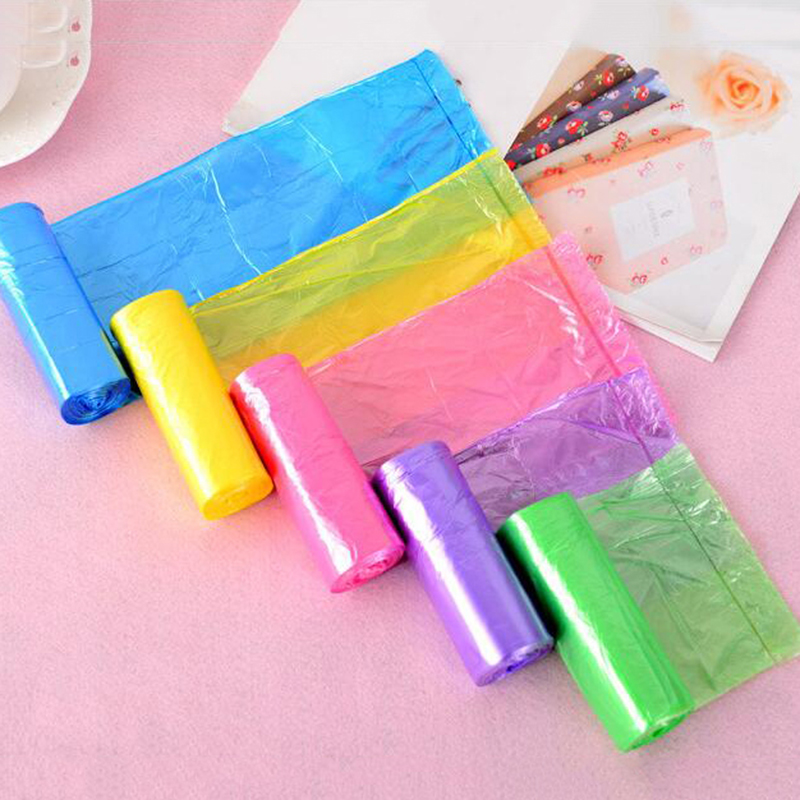 5Rolls Thicken Kitchen Trash Garbage Bags Rubbish Bucket Trash Can Household Cleaning Tools 6B