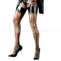 Male Role Reversal Sexy Latex Stockings Cross dressing Rubber Latex Man Sexy Lingerie S LA052