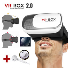 3d vr VR BOX II 2.0 Version VR Virtual Reality Movie Game Glasses with earphones For Samsung Galaxy S6 edge plus S7 edge