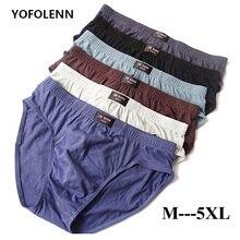4 Pieces/lot Breathable Cotton Male Underwear 2019 Briefs Men Plus Size Bodysuit Comfortable Slip Solid Sexy U Convex Underpants