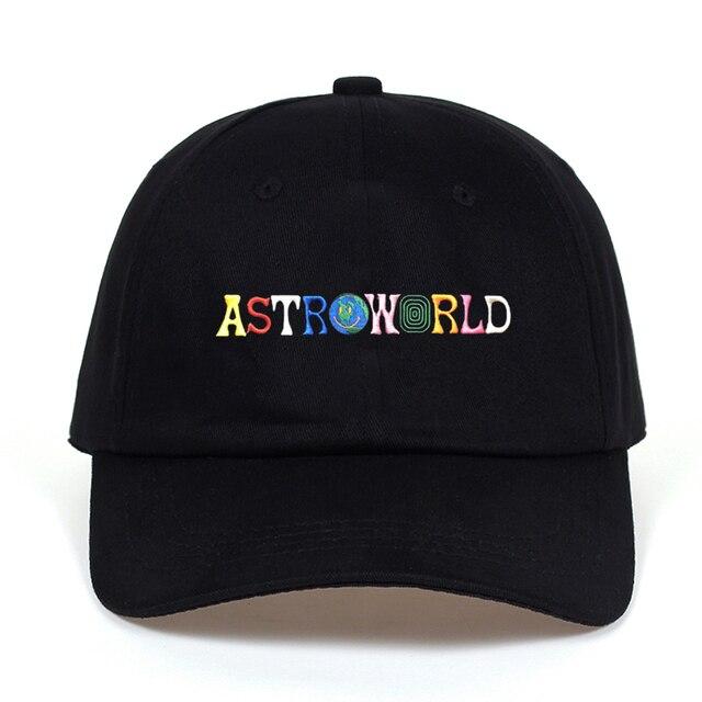Travi $ Scott najnowsze album ASTROWORLD Tata Kapelusz 100% Bawełna Wysokiej jakości haft Astroworld Czapki Z Daszkiem Unisex Travis Scott