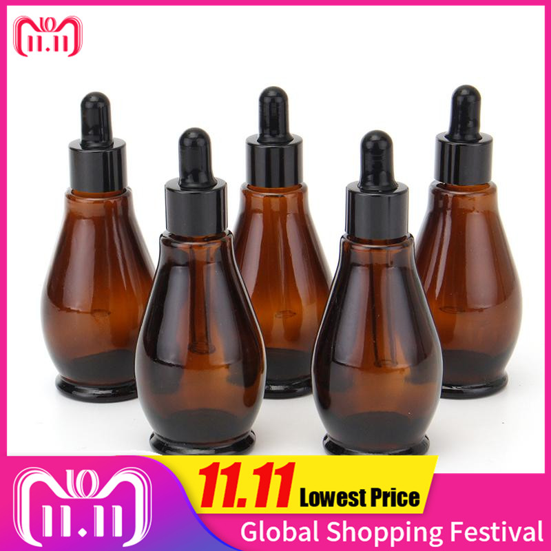 все цены на 5pcs 10/20/30/50/100ml Amber Glass 30ml Dropper Bottle 100ml Essential Oil Perfume Pipette Bottles Refillable Empty Container