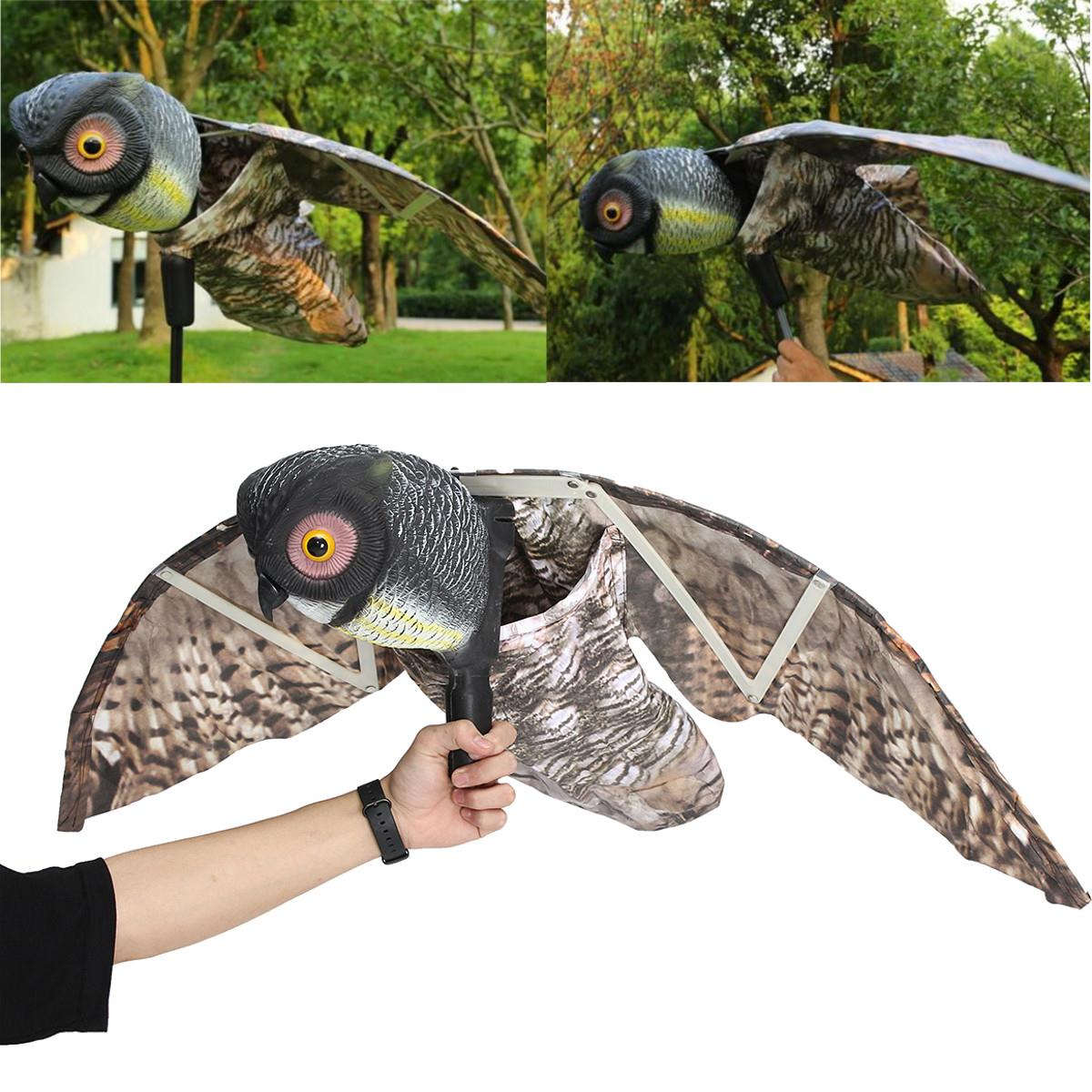 Garten Design Owl Flying Owl Decoy Pest Control Garden Mice Scarer Scarecrow Predator Decoy Pest Scarer Bird Deterrent Outdoor Hunting Decoy