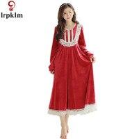 Women Winter Nightgown Women Sleepwear Women Nightwear Ladies Nighties Lace Nightgowns Long Nylon Nightgown SY758