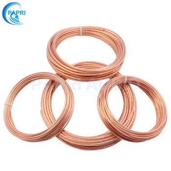 bvv 50mm square soft sheathed cable control power line monitor power cord home improvement copper electronic wire conductor PAPRI Teflon OCC Pure Copper Wire Audio DIY Braided Speaker Power Cable Power Cord 0.15MM2-6.0MM2 Woven Signal Line AWG9-AWG16