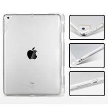 Tablet Case For iPad Pro 11 Clear Crystal Transparent Soft TPU With Pen Holder Case For New iPad Pro 11 inch 2018 Back Cover стоимость
