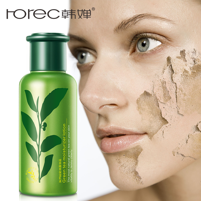 ROREC Rosto Emulsão Hidratante Facial Hidratante Fórmula Chá Verde Loção Anti Envelhecimento Rugas Cuidado Facial Calmante Hidratante