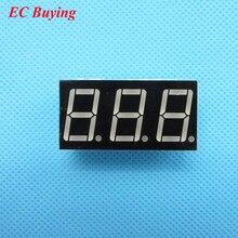 50 шт. 3 битная 3 битная цифровая трубка, общая анодная положительная цифровая трубка 0,56 дюйма. 7 сегментный красный светодиодный дисплей