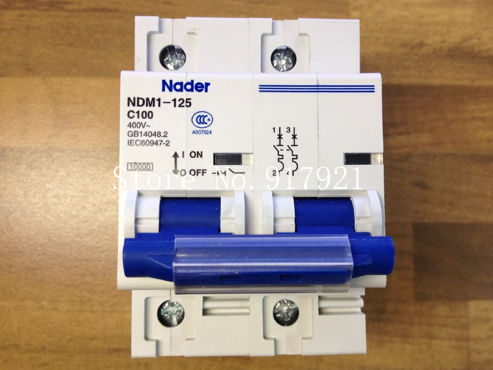 [ZOB] The letter NDM1-125 Nader genuine new C100 mini circuit breaker 2P100A air switch --5pcs/lot