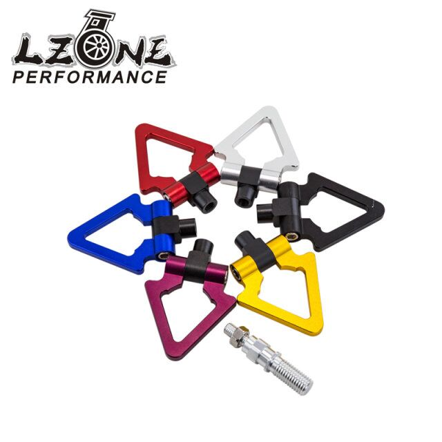 Travel & Roadway Product Japan Models Car Racing Screw Aluminum Cnc Triangle Ring Tow Towing Hook For Honda For Toyota Jr008 Durable Modeling Hospitable Lzone