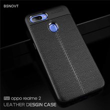 For Oppo Realme 2 Case RMX1805 RMX1809 Soft Silicone PU Leather Anti-knock Cover BSNOVT
