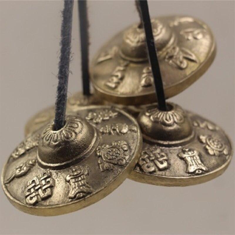 Religion Tibetan Tingsha Bell Buddhism Meditation Bells Cymbals Chimes OM Mani Handmade Decoration Craft Statue