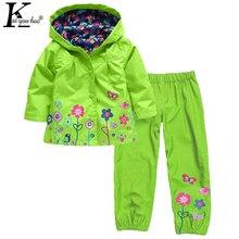 Girls Clothes Sets Children s Clothing Long Sleeve Waterproof Raincoat Sport Suit 2 3 4 5