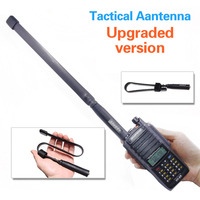 ABBREE Army Foldable Tactical Dual Band VHF/UHF 144/430MHz Antenna For Baofeng UV XR UV 9R Plus UV S9 UV B3 Radio Walkie Talkie