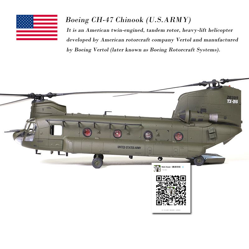 US $92 0 25% OFF|FOV 1/72 Scale Military Model Toys U S  CH 47D Chinook  Helicopter Diecast Metal Plane Model Toy For Collection/Gift/Decoration-in