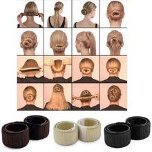 Fashion Women Bun Maker Hair Accessories Hairstyle Dish Twist Donuts Bud Head Ball Ladies Sweet Girls Hair Band DIY Tool SSwell