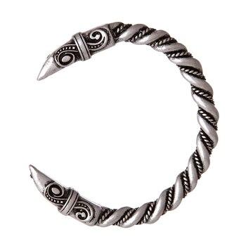 1pc Viking Raven Tin bransoletka Pagan wrona głowa bransoletka najlepszy przyjaciel prezenty na nowy rok mankiet na rękę