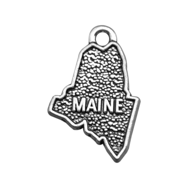 Online Get Cheap State Usa Map Jewelry Charm Aliexpresscom - Maine state usa map