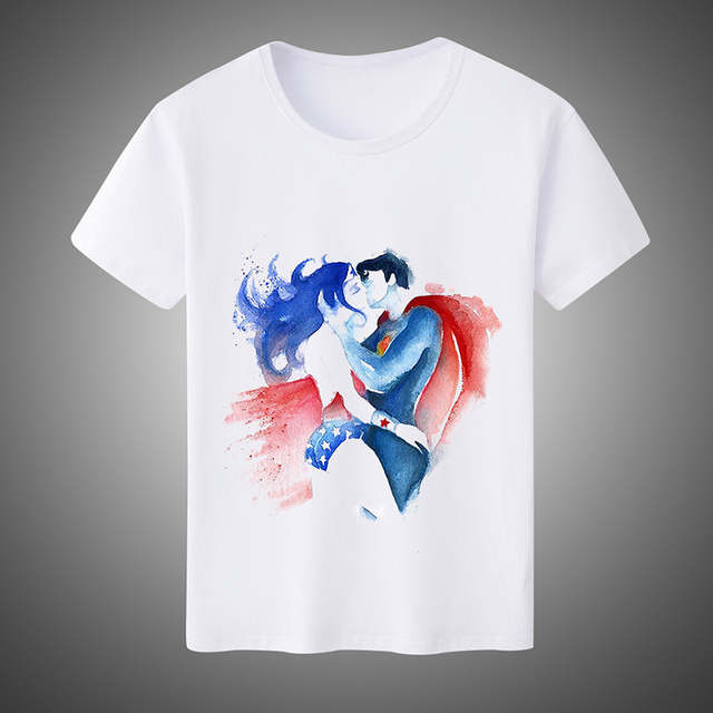 85ce6caf Summer Fashion Men's/Women's T-shirts Super Hero Wonder Woman Cosplay  Costumes Unisex Short