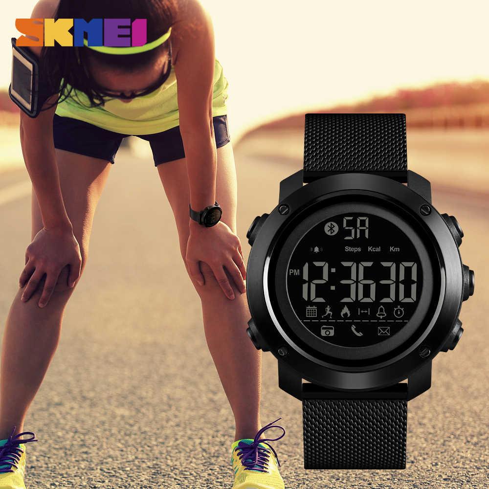 SKMEI Men Sport Smart Camera Watch Brand Fashion Pedometer Remote Calorie Bluetooth Smartwatch Reminder Digital Wristwatches1462