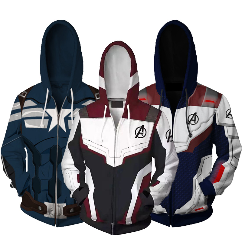 Jacket Sweatshirt Hoodie Autumn Children 4-Quantum-Wars Avengers American-Team-Captain