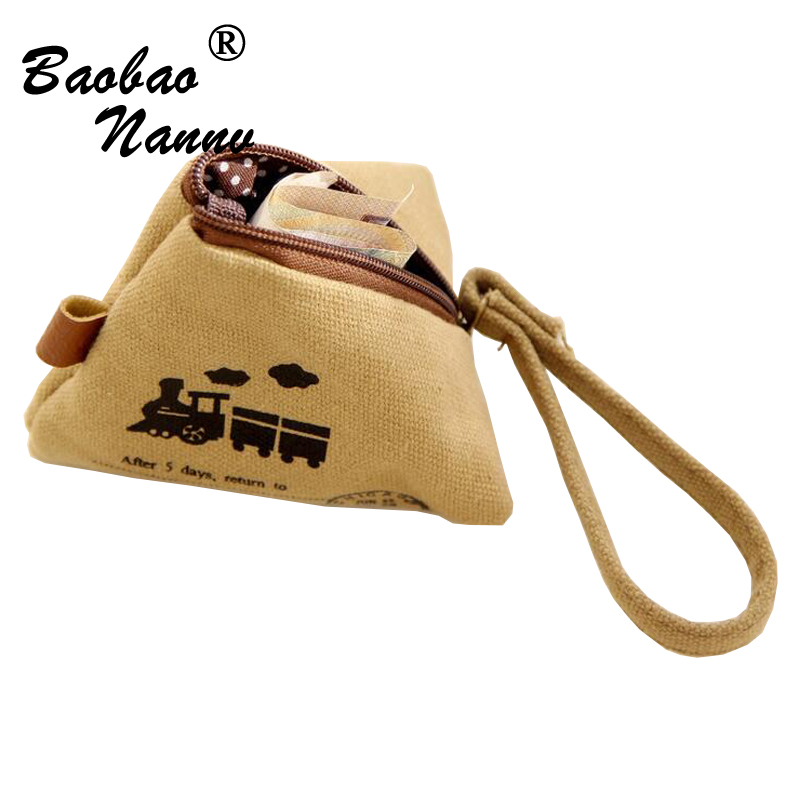 2017 Vintage Zipper Coin Purse Wallets Cartoon Cute Mini Triangle Dumplings Cheap Retro Classic Small Money Bag Creative Gifts
