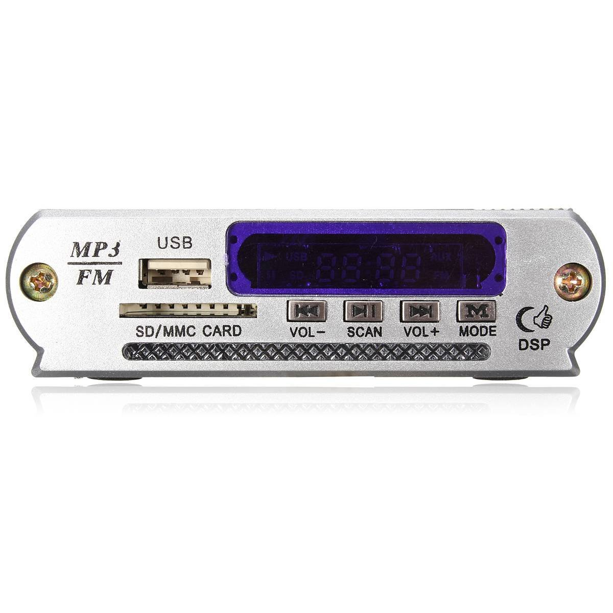 Mini Car USB Digital LED SD Audio Amplifier Amplifier MP3 Decoder SD/ MMC Card U Stick FM Radio Playerwith remote control
